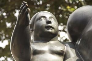 Botero Sculpture, Botero the boy, Medellin Colombia,Botero Plaza Medellin,Medellin Colombia,the boy