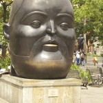 Botero Sculpture, Botero face, Medellin Colombia,Botero Plaza Medellin,Medellin Colombia, the face
