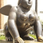 Botero Sculpture, Botero winged woman, Medellin Colombia,Botero Plaza Medellin,Medellin Colombia, the woman with wings