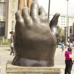 Botero Sculpture, Botero Hand, Medellin Colombia,Botero Plaza Medellin,Medellin Colombia