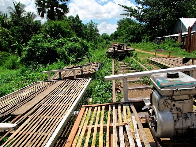 Battambang, Bamboo Rail-Riding in Cambodia