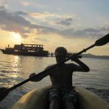 Canoeing Around Phuket, Thailand