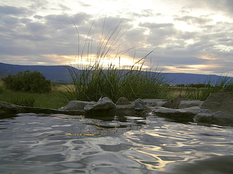 Hot spring sunset