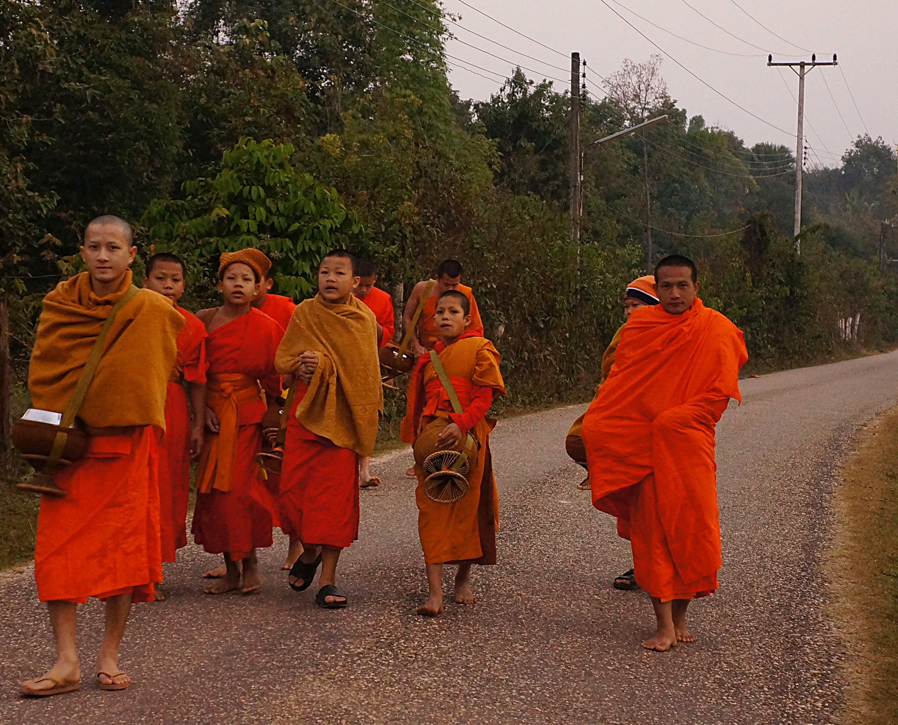 The Experience of Walking Beside Laotian Monks