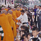 Giving Alms in Thailand