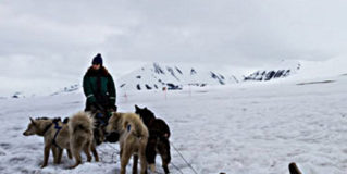 Dog-sledding in Svalbard, Norway