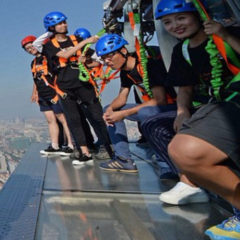 Glass Walkway For a Shanghai Tower