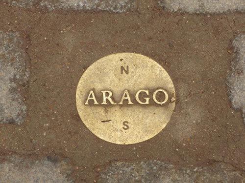Arago meridian marker