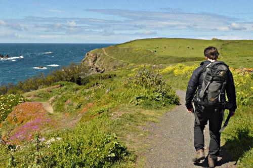 Cornish coastal hiking trail