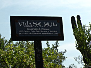 VidaSoul road sign, Baja Sur