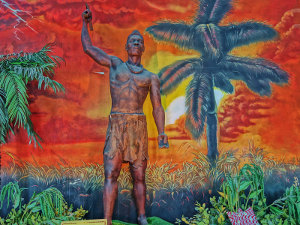 Shango, the warrior associated with thunder, lightning, and fire in santeria