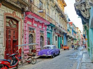 colorful back alleys of Santeria indowntown Havana