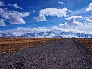 Road Heading Towards the Bordering the Pamirs