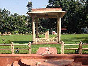 Gandhi's last steps