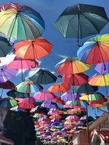 Decretive umbrellas