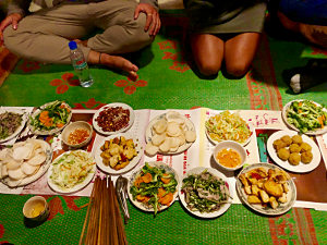Homemade Dinner in Yen Minh