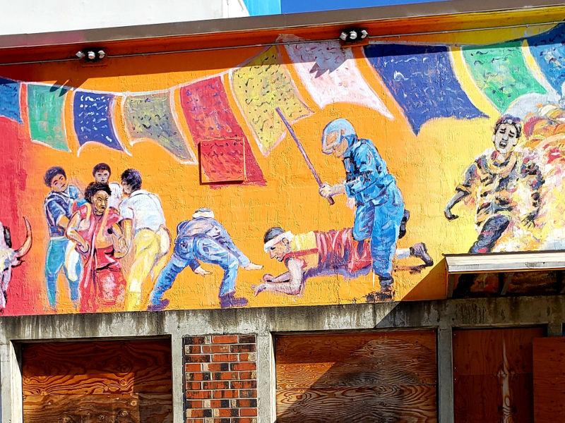 Scenes of Taiwan and Tibet, urban art