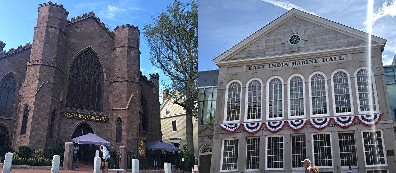 Salem Witch Museum and East India Marine Hall on Essex Street