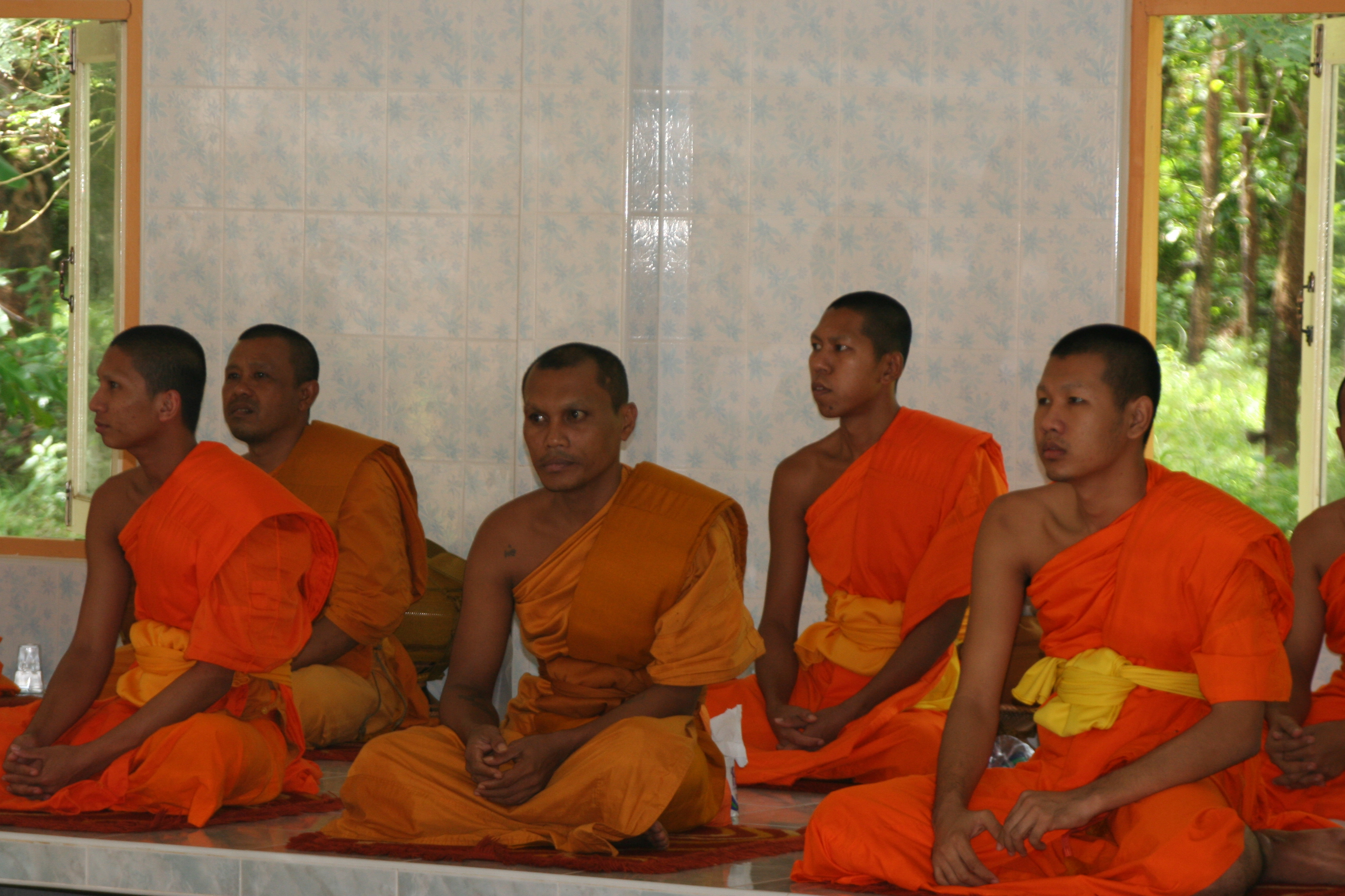 Chasing Monks in Luang Prabang