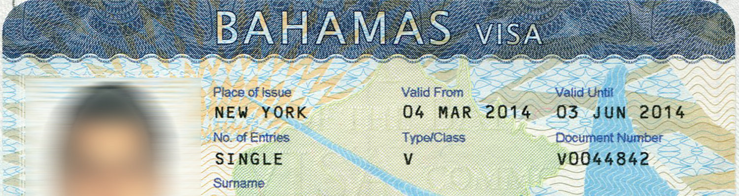 Customs when entering The Bahamas