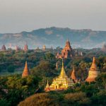 Sailing over the Myanmar's Plains of Bagan